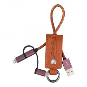 3 IN 1 PU LEATHER USB CABLE